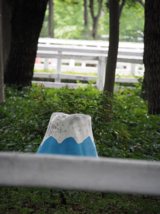 ポニー乗車場の富士山