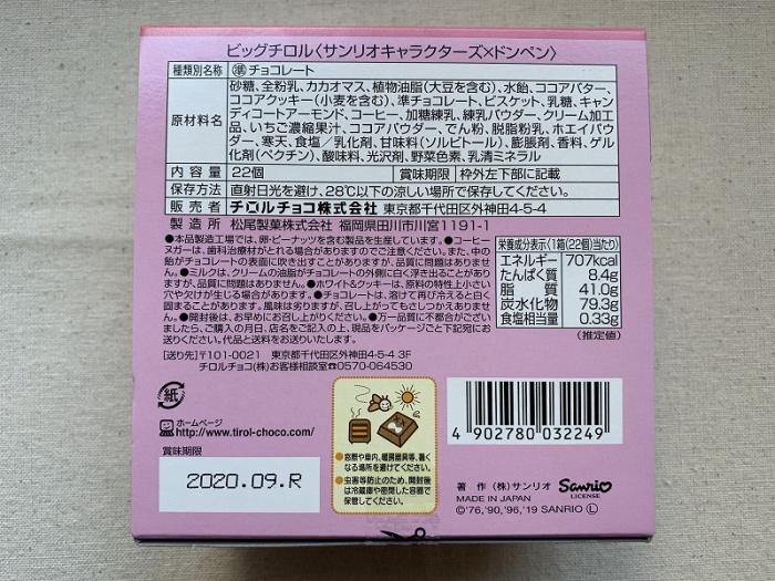チロルチョコ サンリオキャラクターズ