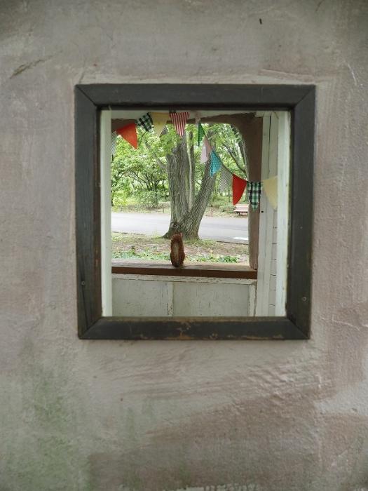 リスの家の窓