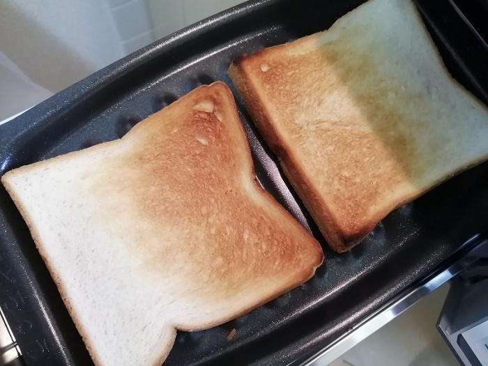 食パンを焼いた